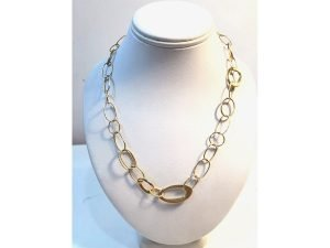 18K gold Classico mixed link necklace