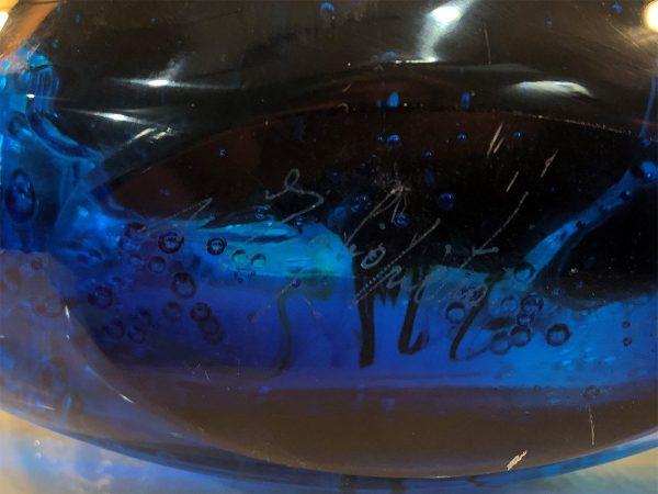 Andrea Tagliapietra art glass aquarium signature