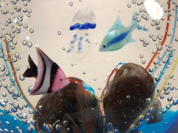 Andrea Tagliapietra art glass aquarium close up