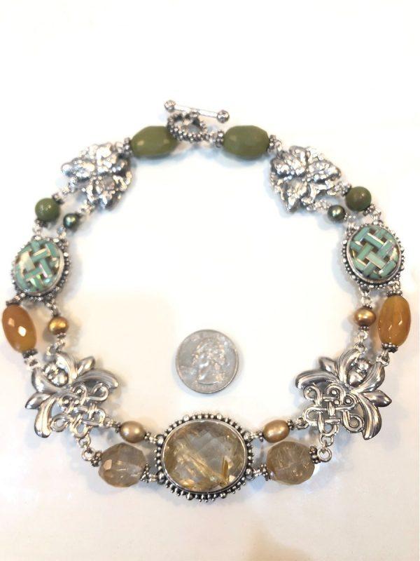 Stephen Dweck multi-gem necklace in sterling silver size