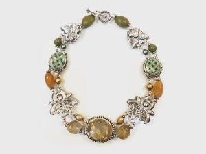 Stephen Dweck multi-gem necklace in sterling silver